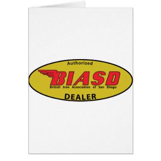 Distribuidor autorizado de BIASD Tarjeta De Felicitación