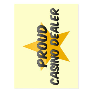 Distribuidor autorizado orgulloso del casino tarjeta postal