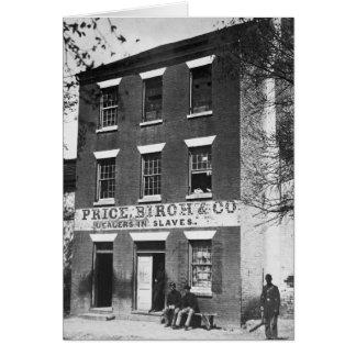 Distribuidores autorizados auxiliares, 1860s tarjeta de felicitación