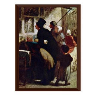 Distribuidores autorizados del grabado de Daumier  Postal