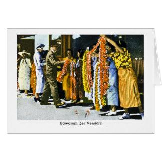 Distribuidores autorizados hawaianos de los leus tarjeta de felicitación