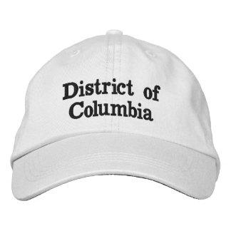 Distrito de Columbia Gorras Bordadas