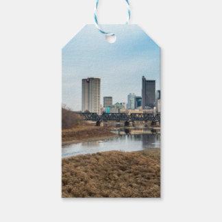 Distrito financiero central Columbus, Ohio Etiquetas Para Regalos