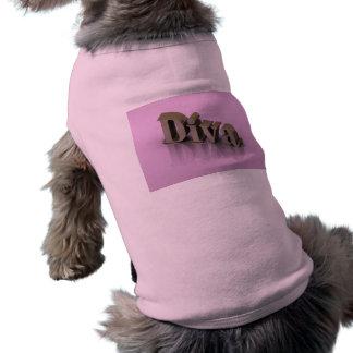 Diva 3D rosado Camiseta Sin Mangas Para Perro