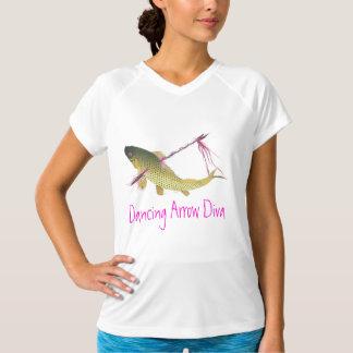 Diva de la flecha del baile camiseta