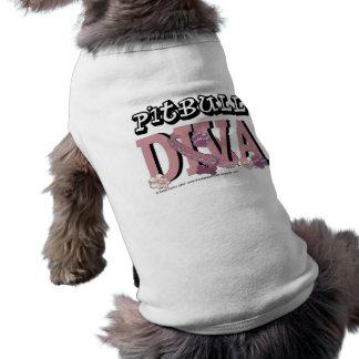 DIVA de Pitbull Camiseta Sin Mangas Para Perro