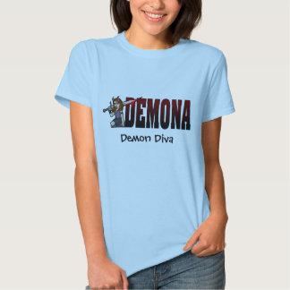 Diva del demonio de Demona Camisetas
