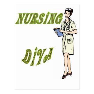 Diva del oficio de enfermera postal