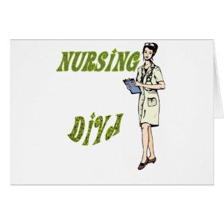 Diva del oficio de enfermera tarjetas