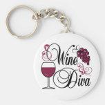 Diva del vino llaveros