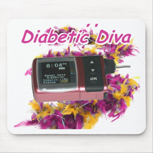 Diva diabética tapetes de ratón