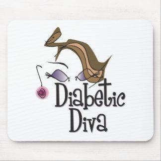 Diva diabética alfombrilla de ratón