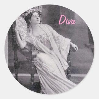 Diva Pegatina Redonda
