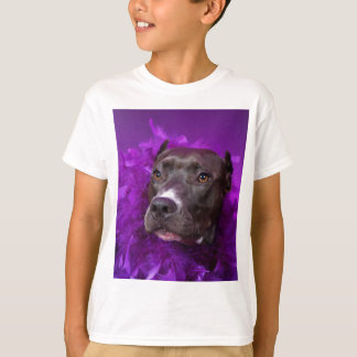 Diva púrpura del pitbull camiseta