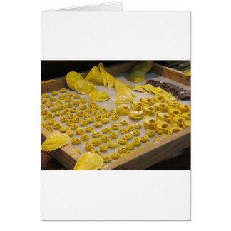 Diversa mezcla de pastas hechas en casa italianas tarjeta de felicitación