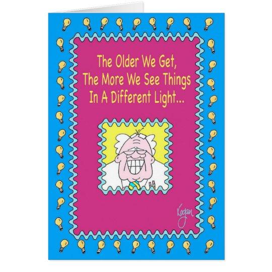 DIVERSA tarjeta de cumpleaños LIGERA