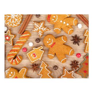 Diversas galletas hechas en casa del pan de postal