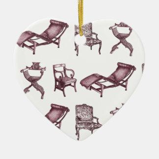 Diversas sillas ornamentos para reyes magos