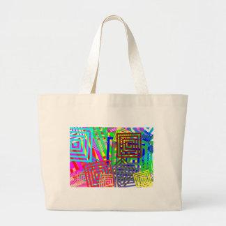 DIVERSIÓN abstracta colorida de los regalos de las Bolsa Tela Grande