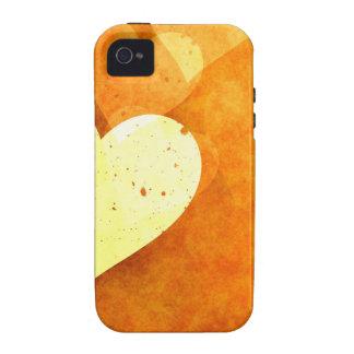 Diversión anaranjada vibe iPhone 4 fundas