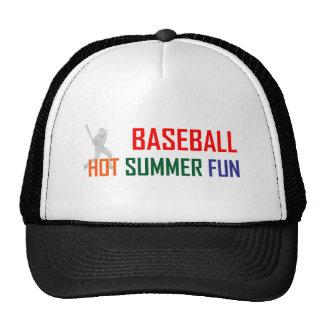 Diversión caliente del verano del béisbol gorras
