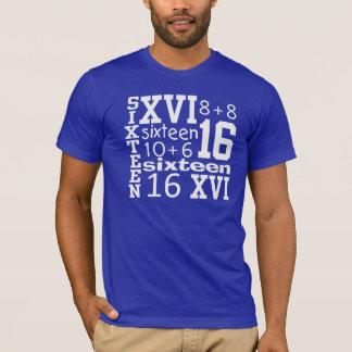 DIVERSIÓN camiseta de dieciséis CUMPLEAÑOS