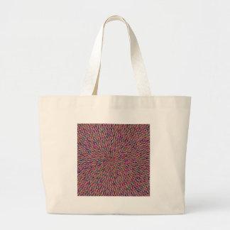 Diversión creada artista elegante de la textura bolsa lienzo
