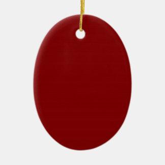 Diversión de acrílico de las costuras de la moda adorno navideño ovalado de cerámica
