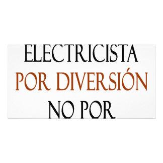 Diversión de Electricista Por de la soja ningún Po Tarjetas Fotográficas