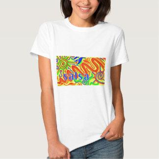 Diversión de la danza de la salsa camiseta