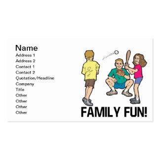 Diversión de la familia tarjetas de visita