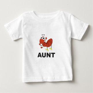 diversión de la hormiga de la tía camiseta de bebé