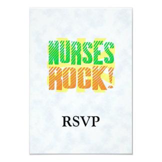 Diversión de la roca de las enfermeras, anaranjada invitación 8,9 x 12,7 cm