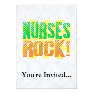 Diversión de la roca de las enfermeras anaranjada