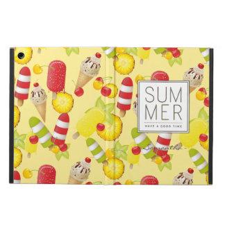 Diversión de las frutas y del helado del verano funda para iPad air
