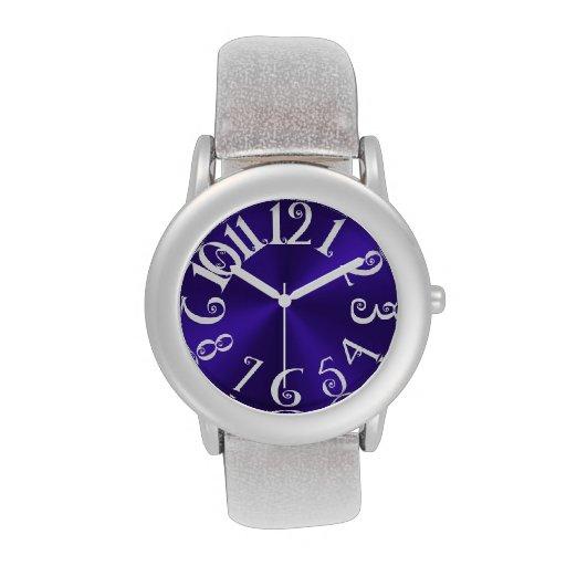 Diversión de PixDezines+acero radial/falso violeta Relojes De Mano
