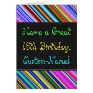Diversión, décimosexto tarjeta de cumpleaños