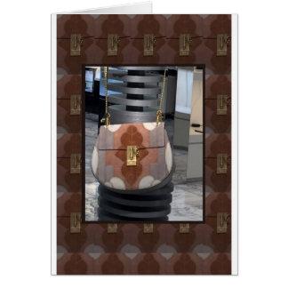 Diversión del accesorio del cuero de la cartera tarjeta de felicitación