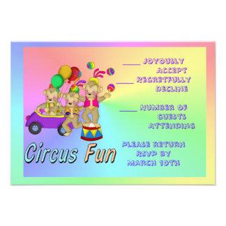 Diversión del circo invitaciones personales