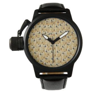 diversión del dux del shibe y meme divertido relojes de pulsera