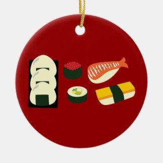 Diversión del sushi adorno redondo de cerámica