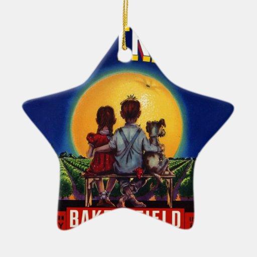 Diversión del vagabundo de la fruta ornaments para arbol de navidad