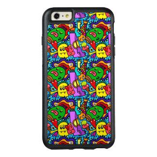 Diversión linda colorida de los monstruos y caja funda otterbox para iPhone 6/6s plus