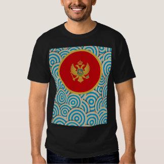 Diversión llenada, bandera redonda de Montenegro Camiseta