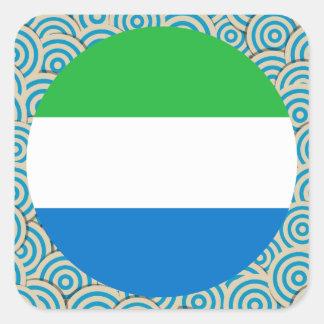Diversión llenada, bandera redonda del Sierra Pegatina Cuadrada