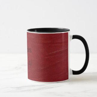 ¡Diversión occidental! Taza de café de cuero roja