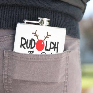 Diversión Rudolph el gráfico sospechado rojo de Petaca