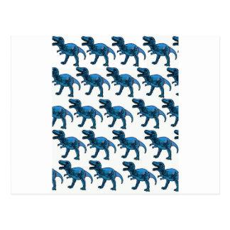 Diversión T-Rex azul elegante con clase Tarjetas Postales