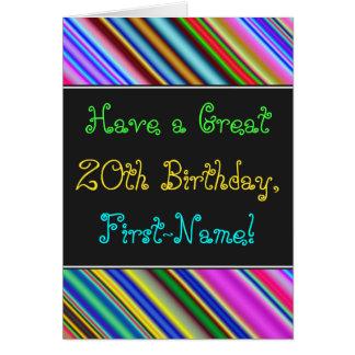 Diversión, vigésima tarjeta de cumpleaños