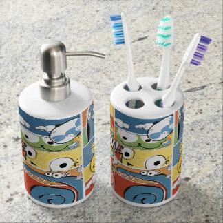 Diversión y dispensador del jabón y tenedor